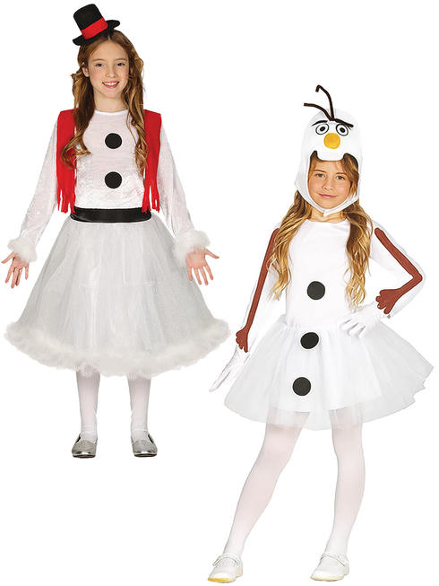 Girl's Snowman Costume