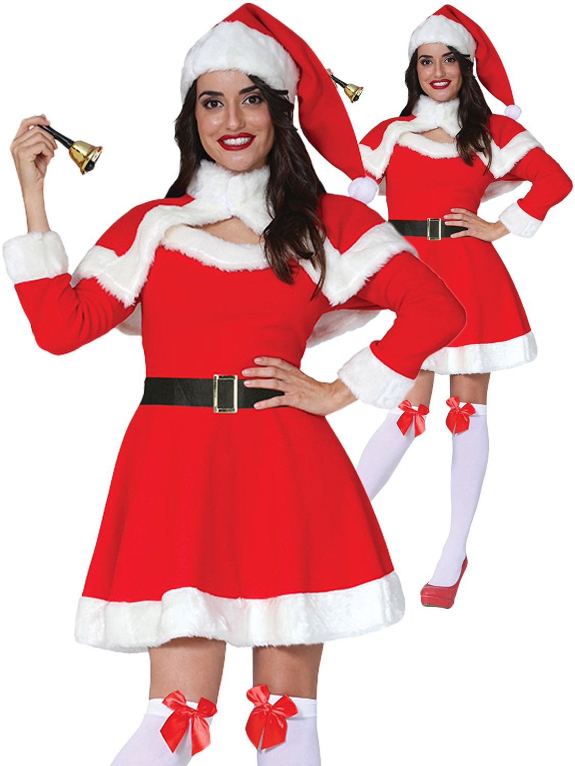 Simply Miss Mrs Santa Claus Adult Womens Costume Standard Size NEW