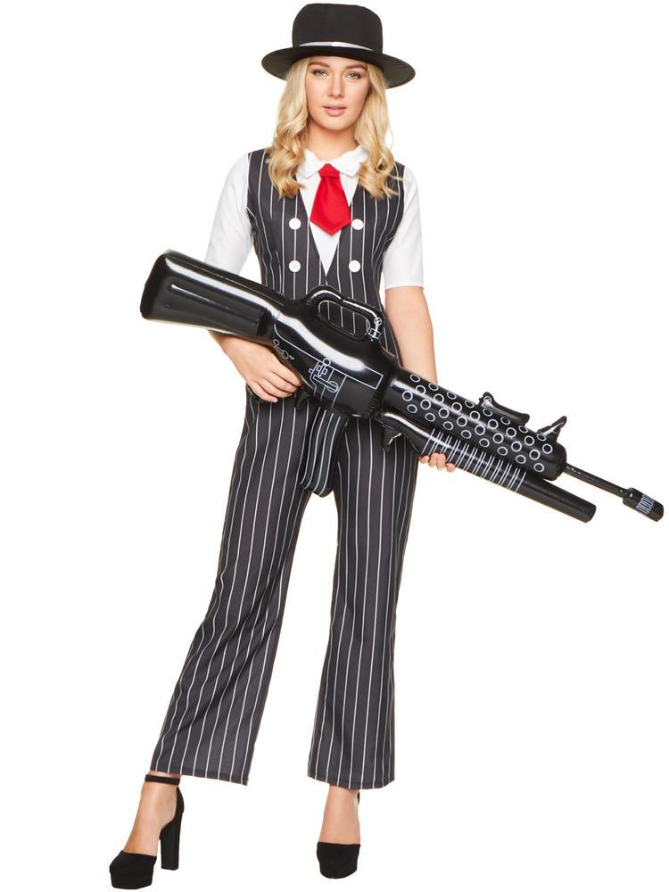 Ladies Gangster Girl Costume 20s Fancy Dress Hub