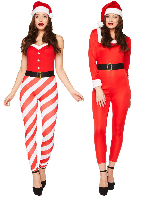 Miss Santa Claus Ladies Fancy Dress Christmas Festive Womens Adults Costume New