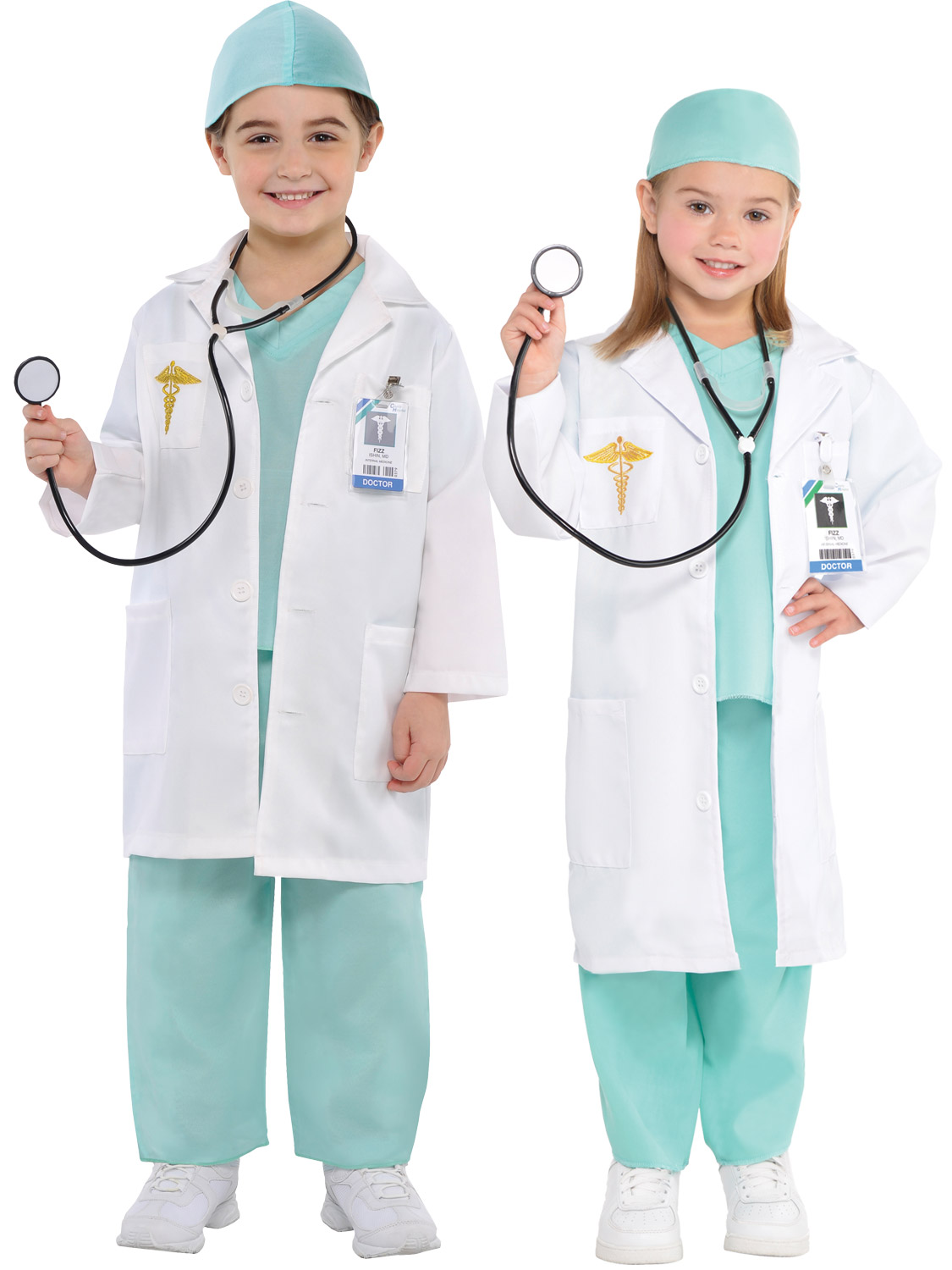 Child Surgeon Doctor Costume Boys Girls Scrubs Fancy Dress Kids Book Week Outfit