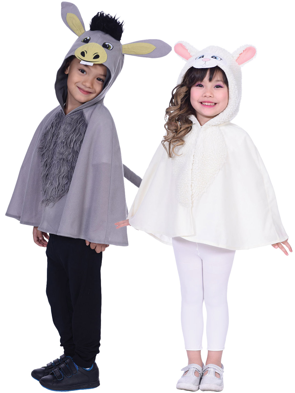 Child Nativity Sheep Donkey Costume Boys Girls Animal Christmas Fancy Dress Xmas