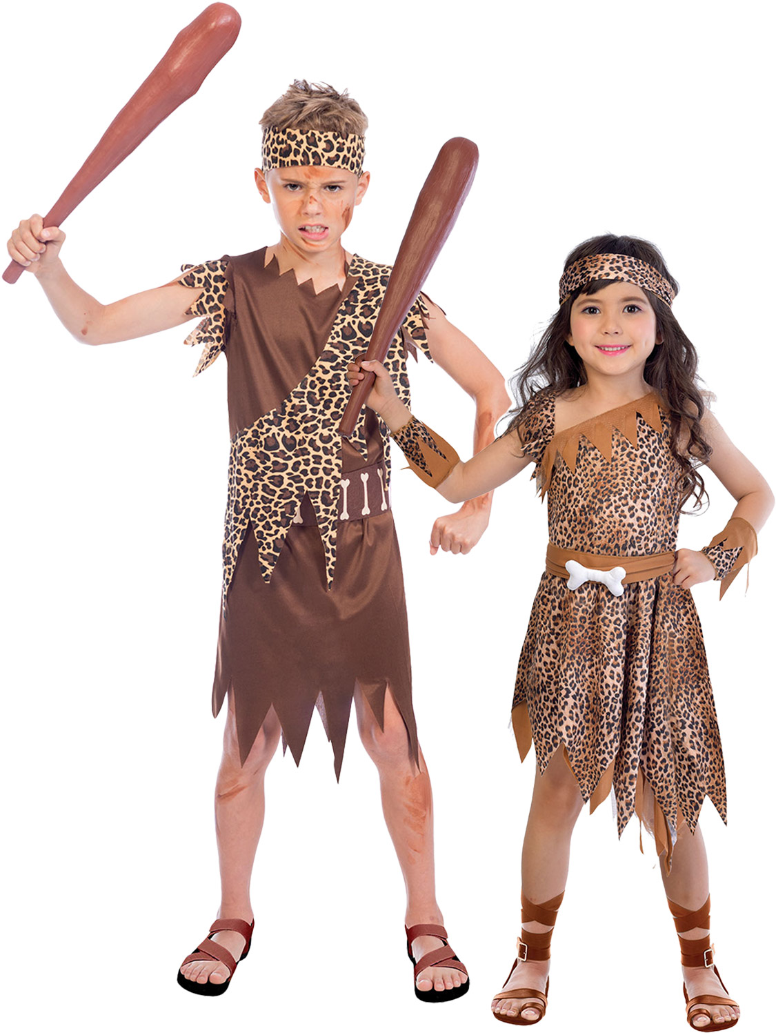 Boys Girls Caveman Costume Prehistoric Stone Age Fancy -2287