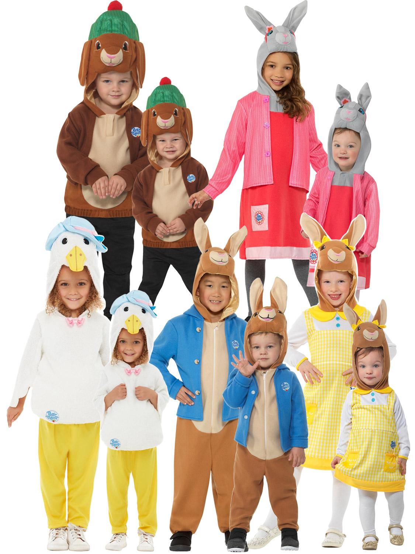Enfant livre semaine M Peter Rabbit Fancy Dress Costume Avec Masque 4 Tailles
