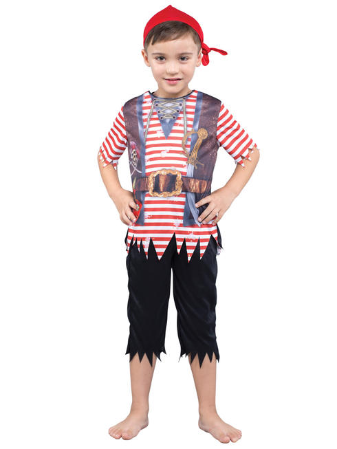 Child's Pirate Sublimation Print Costume