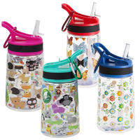 Summit 350ML Childrens Water Bottle with Straw