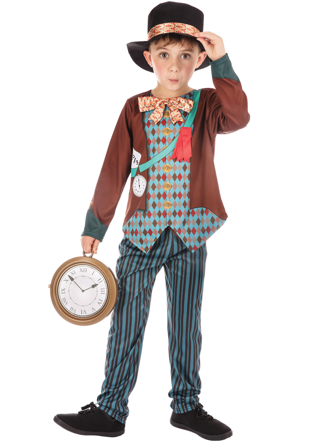 Boys Girls Mad Hatter Alice In Wonderland Costume Kids Fancy Dress Book Week Day Ebay