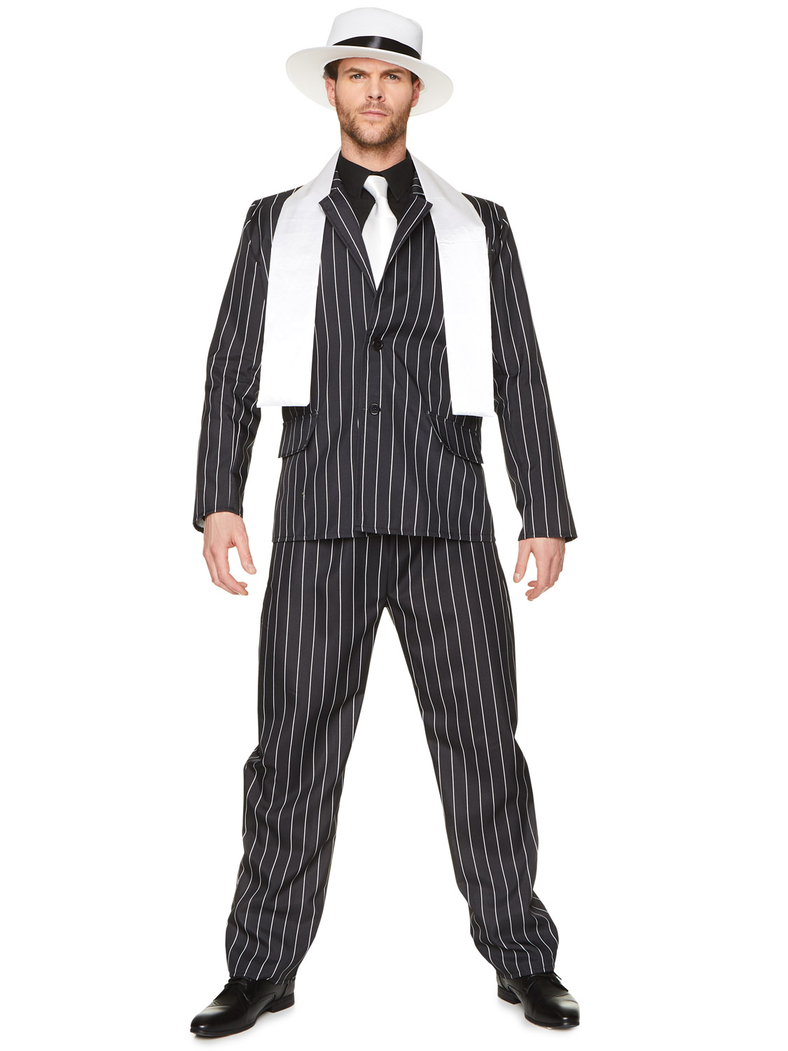 837c88ab8c7 Gangster Boss Mens Fancy Dress 20s Mafia Pinstripe Suit Adults 1920s Costume.  About this product. Picture 1 of 4  Picture 2 of 4  Picture 3 of 4 ...