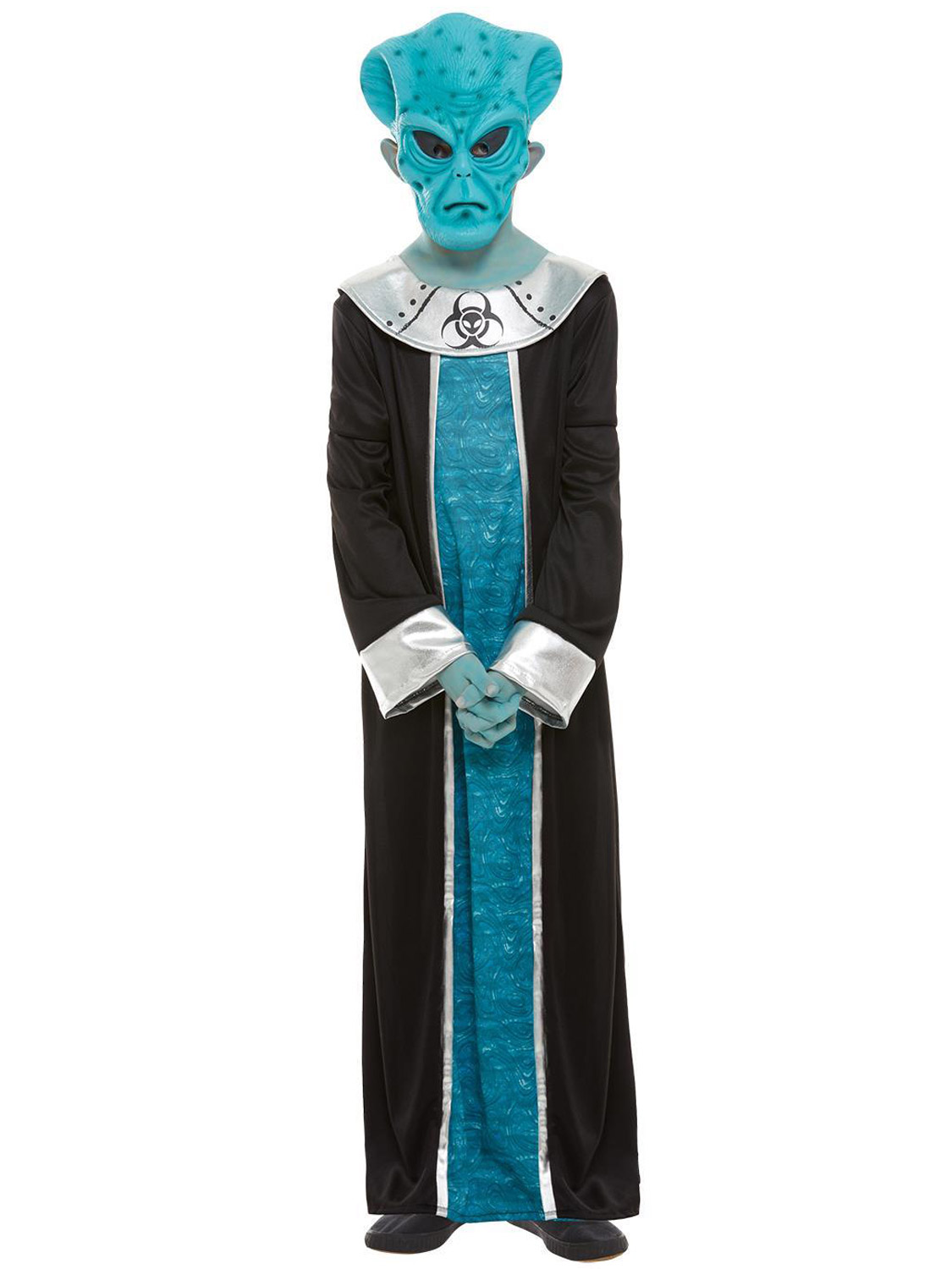 Boys Spaced Out Alien Halloween Costume Mask Collar /& Robe
