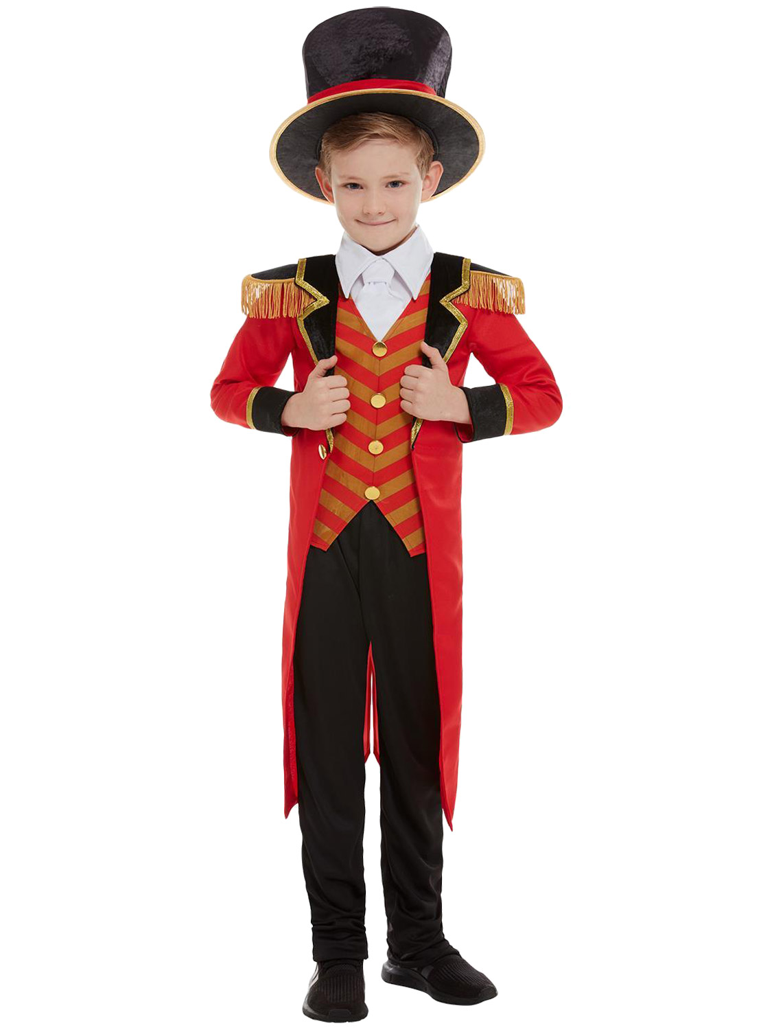 Boys-Girls-Ringmaster-Strongman-Costume-The-Greatest-Showman-Circus-Fancy-Dress thumbnail 3