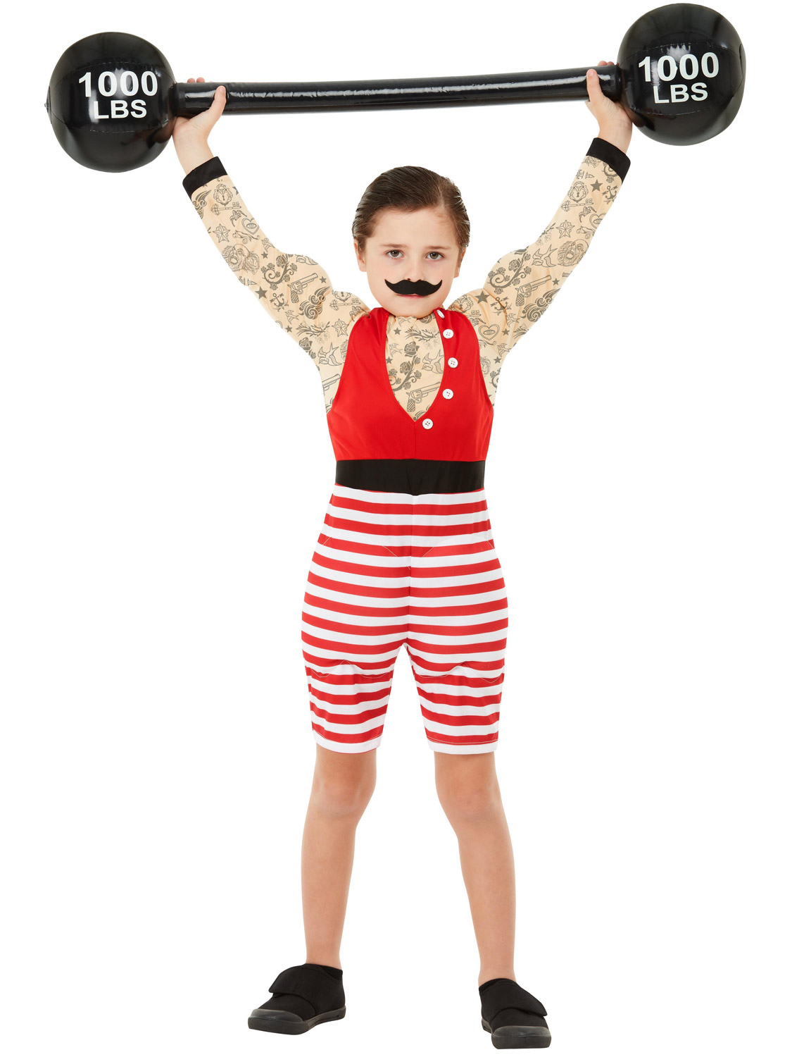 Boys-Girls-Ringmaster-Strongman-Costume-The-Greatest-Showman-Circus-Fancy-Dress thumbnail 6