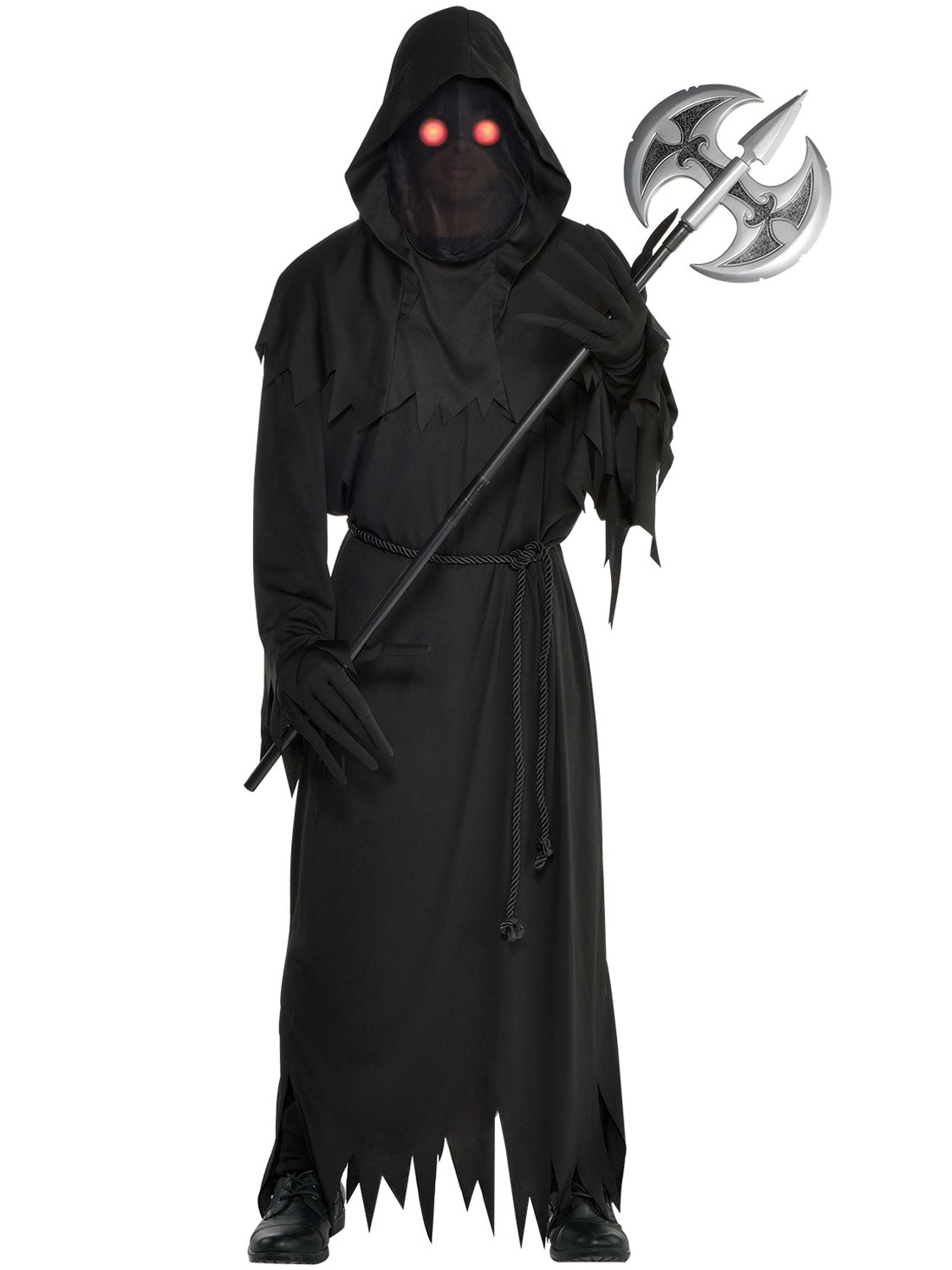 Horror Grim Reaper Mens Fancy Dress Halloween Creepy Adults Costume Outfit New