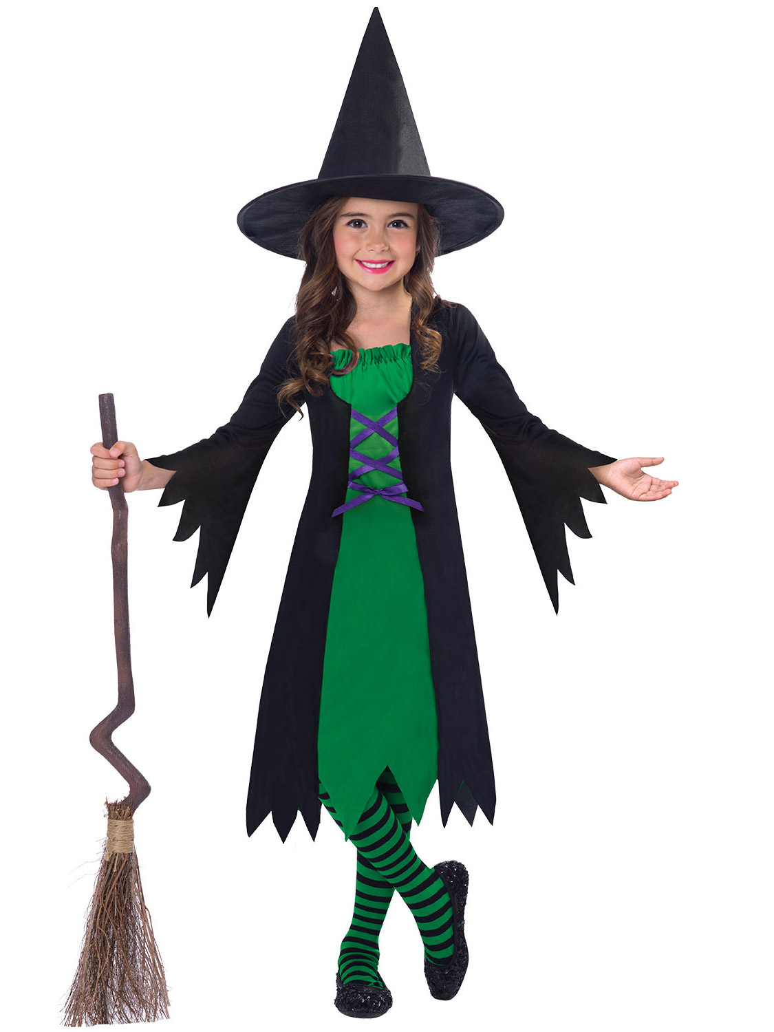 HALLOWEEN WITCH COSTUME GIRLS Kids Fancy Dress Outfit Childrens Party Witches UK