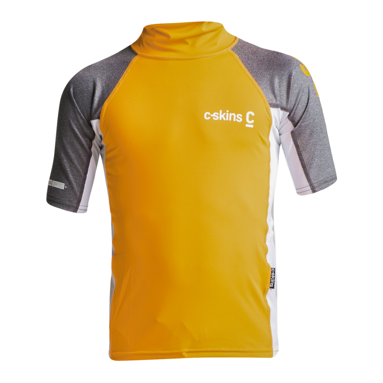 Boys-Girls-C-Skins-Rash-Vest-Guard-Short-Sleeve-Kids-UV-50-Protection-Swim-Top thumbnail 9
