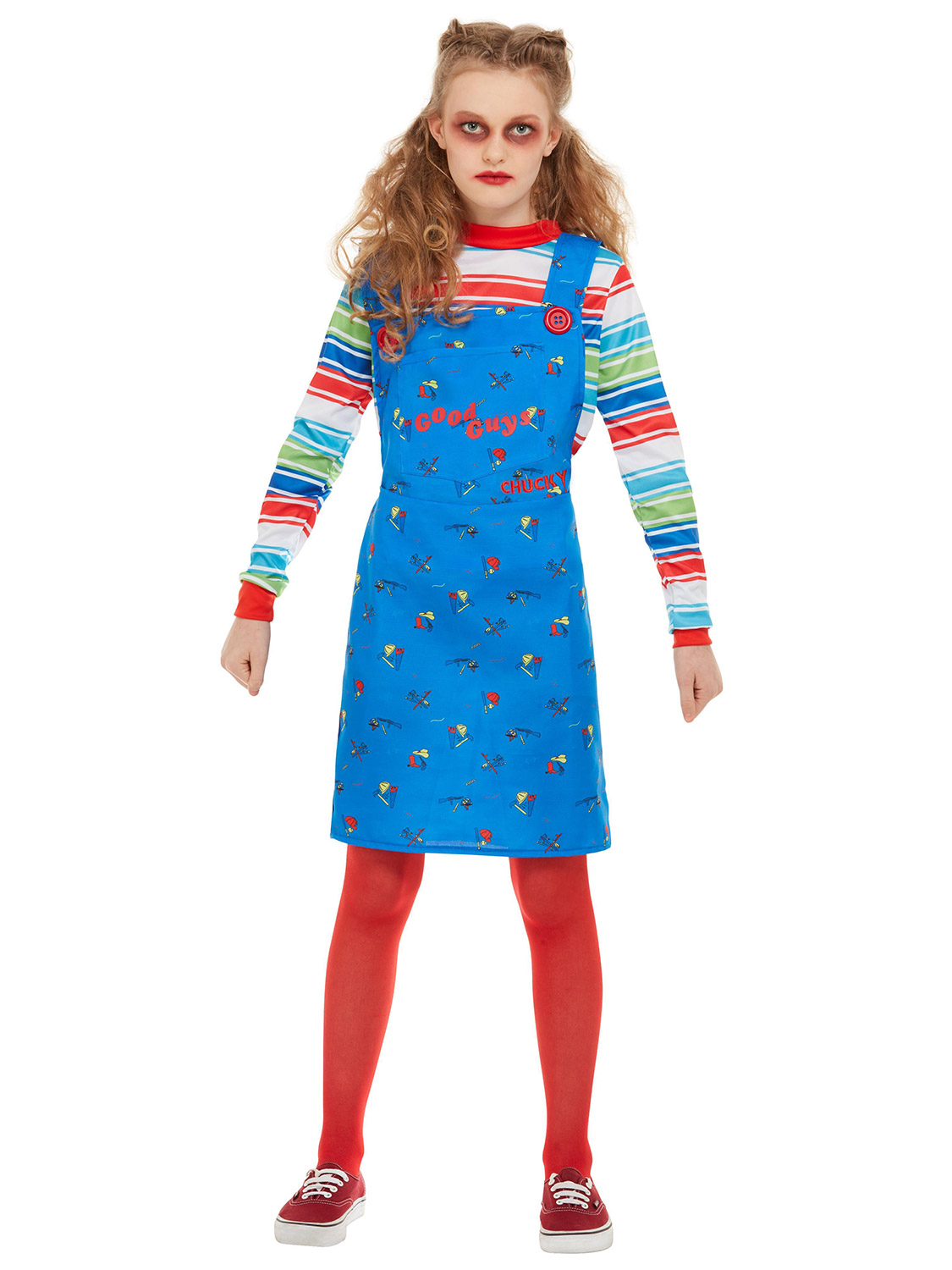 Girls Chucky Costume Childs Play Doll Halloween Child Fancy Dress