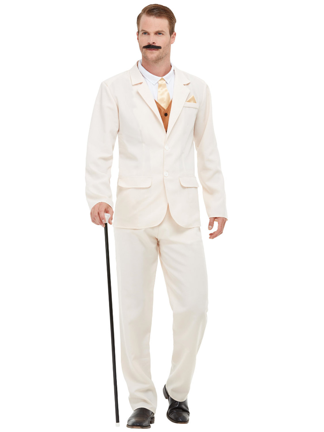 Details About Me 1920s Gent Costume White Suit Fancy Dress Great Gatsby Victorian