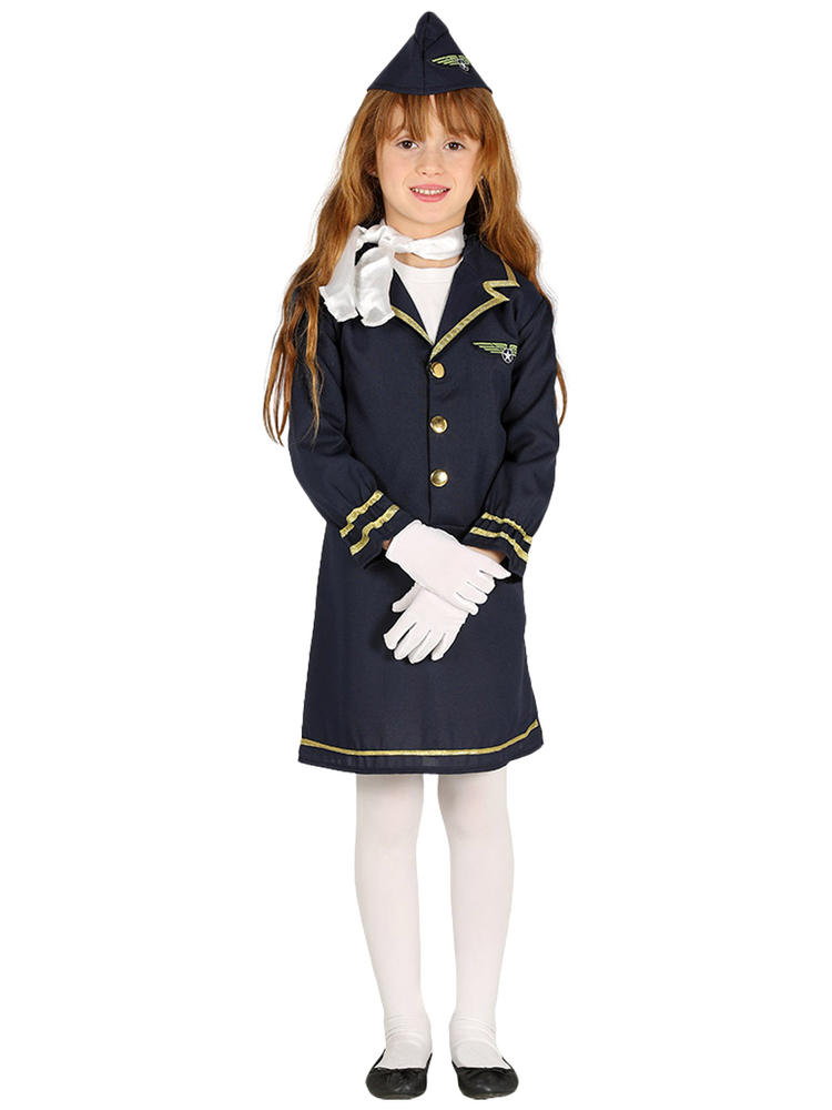 Girls Stewardess Costume