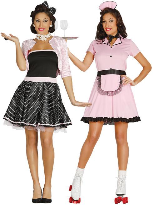 Ladies Roller 50s Waitress Costume