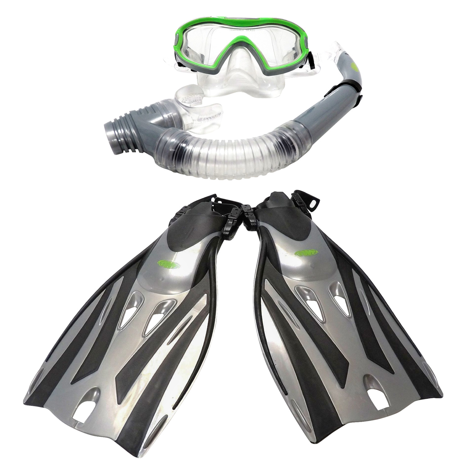 2 x Childrens Snorkel /& Mask /& Flippers Swimming Set