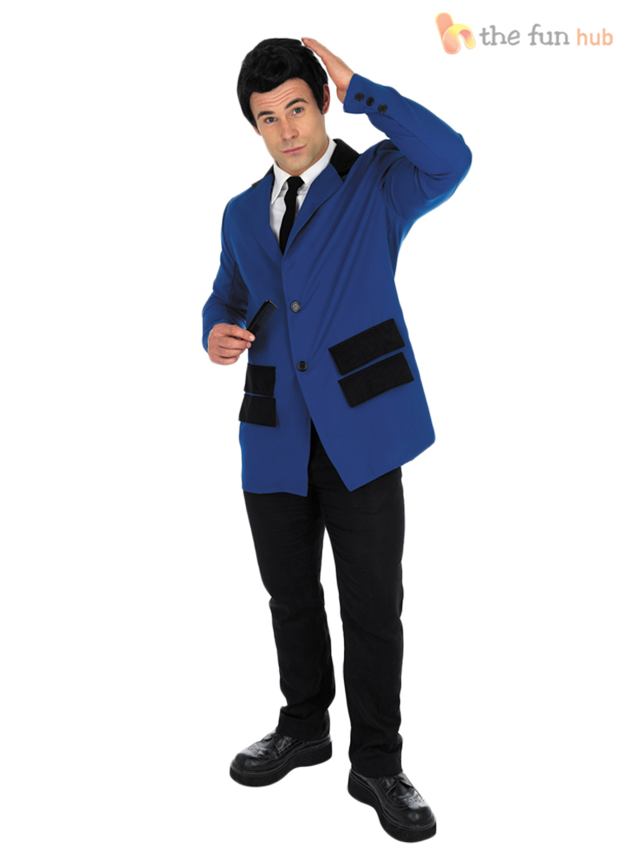 Adult Teddy Boy Costume 50s Rock n Roll Fancy Dress Mens Buddy Holly Fancy Dress | eBay