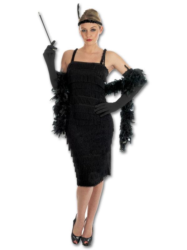 20er jahre charleston kleid mit fransen ebay. Black Bedroom Furniture Sets. Home Design Ideas