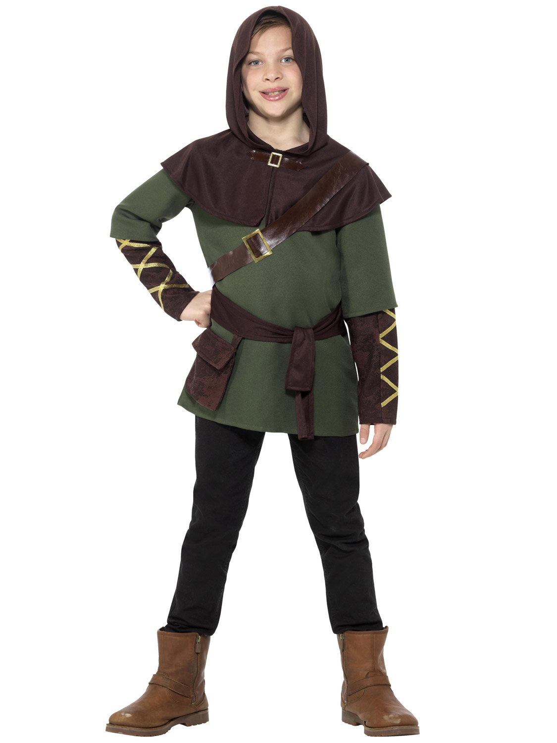 Boys Girls Robin Hood Costume Fancy Dress Medieval Maid Marion Prince Of Thieves
