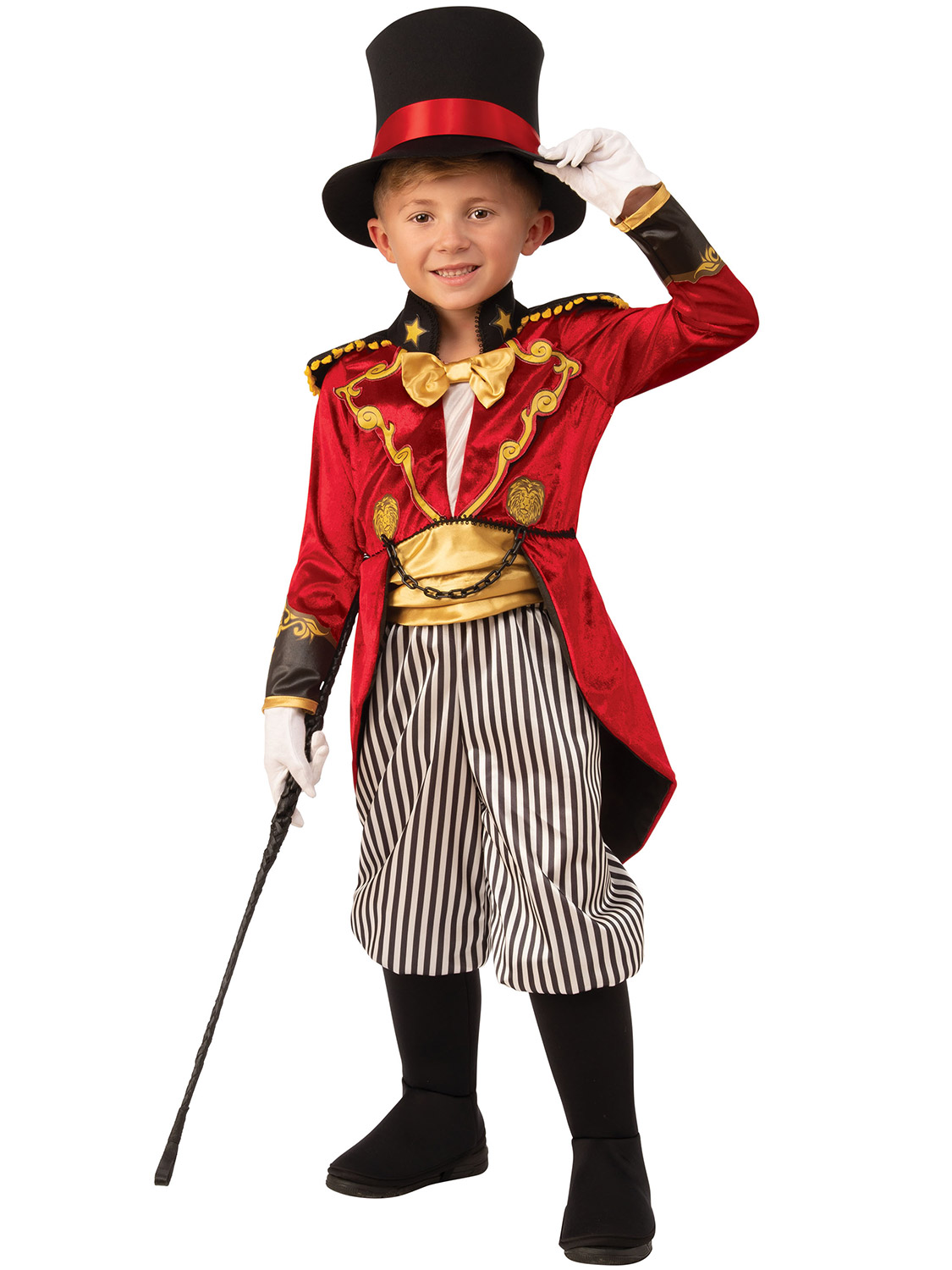 Kids Boys Ringmaster Circus Director Costume Greatest Showman Fancy Dress Outfit