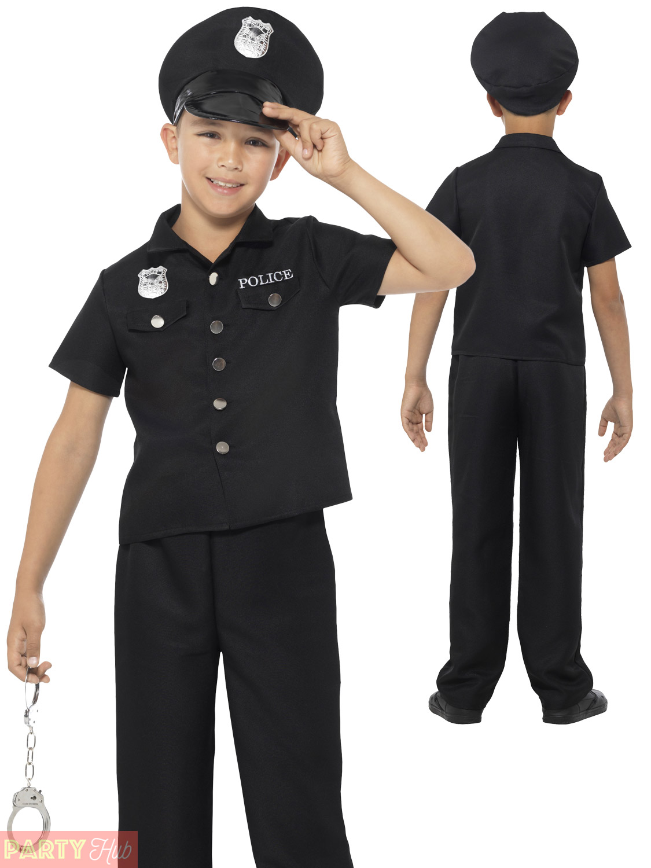 Boys-Policeman-Costume-Kids-Police-Officer-Cop-Fancy-Dress-Uniform-Book-Week thumbnail 10