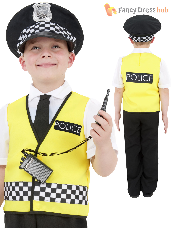 Boys-Policeman-Costume-Kids-Police-Officer-Cop-Fancy-Dress-Uniform-Book-Week thumbnail 6