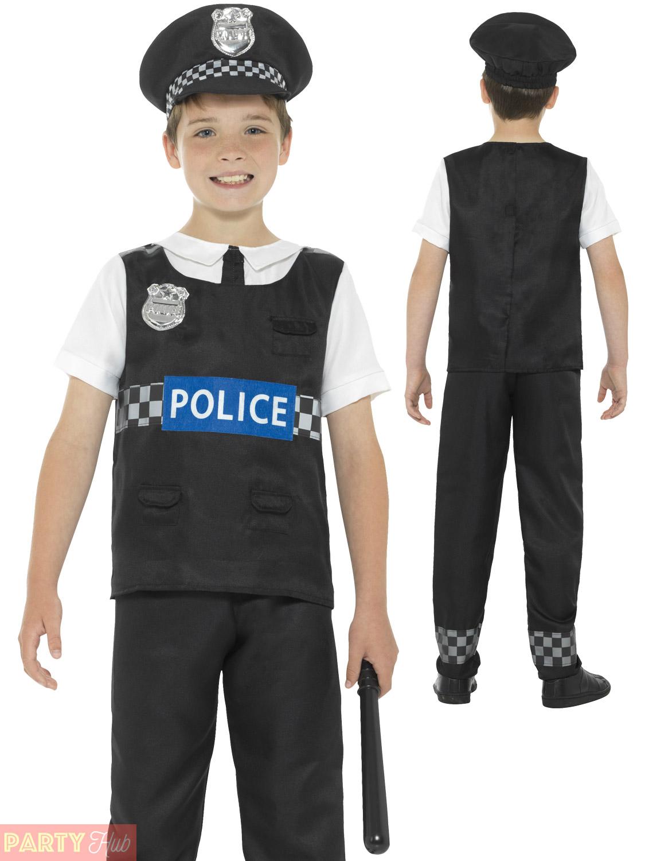 Boys-Policeman-Costume-Kids-Police-Officer-Cop-Fancy-Dress-Uniform-Book-Week thumbnail 17