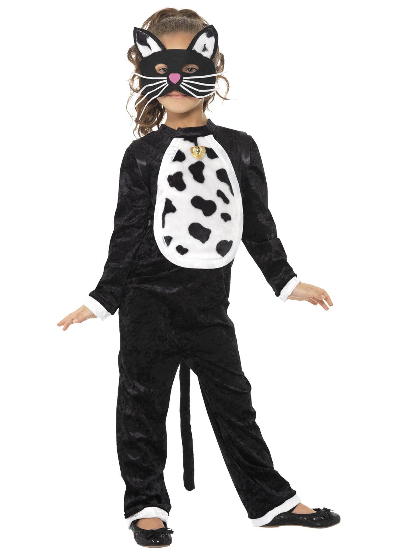 Childs Cat Costume Girls Boys Animal Tabby Halloween Fancy Dress Kids Book Week