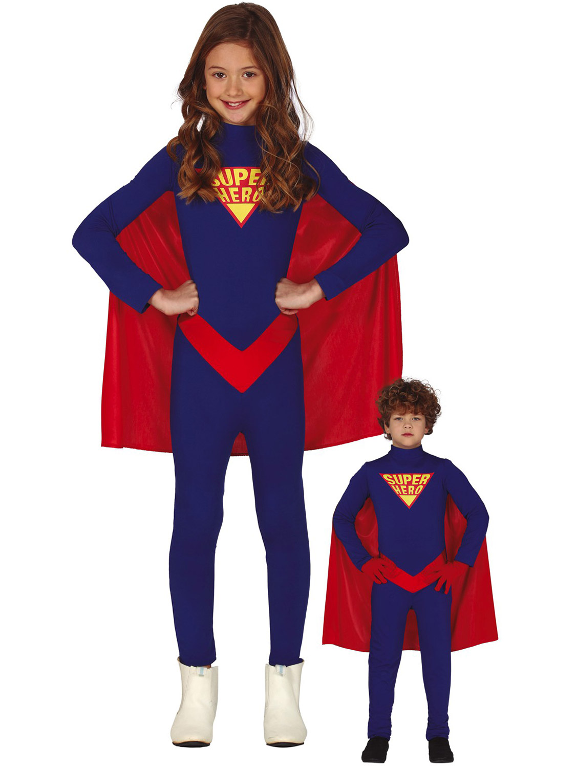Girls Blue Super Hero Fancy Dress Up Party Costume Halloween Child Cape Outfit