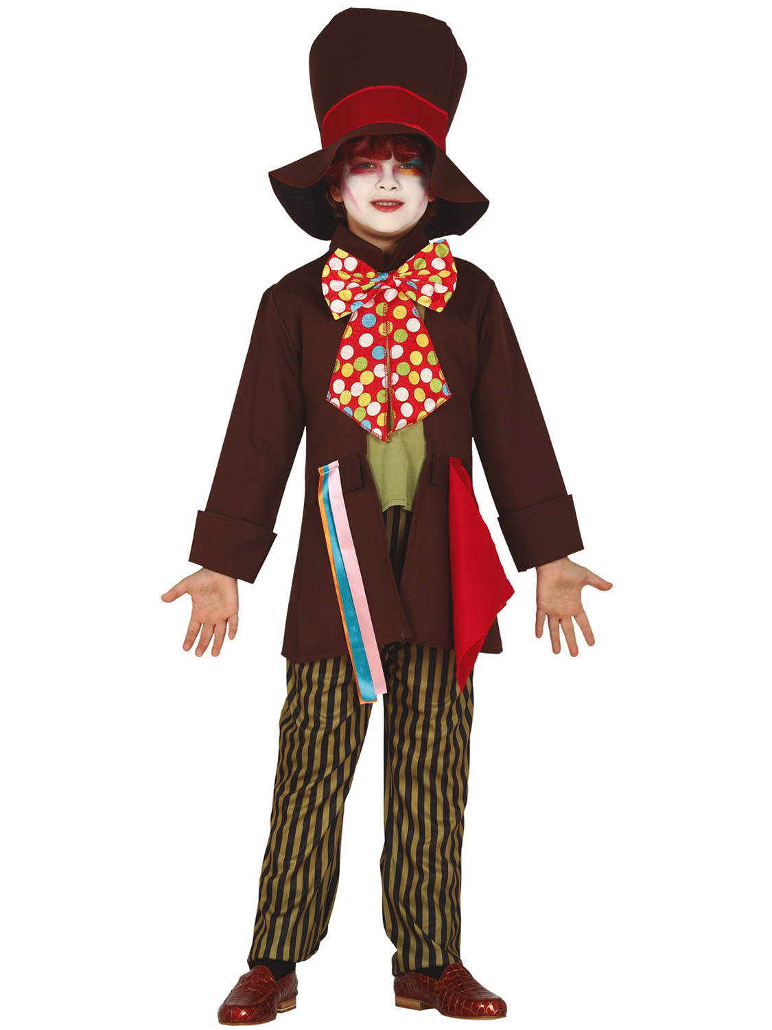 Kids Mad Hatter Costume Boys Wonderland Tea Party Child Fancy Dress Book Day