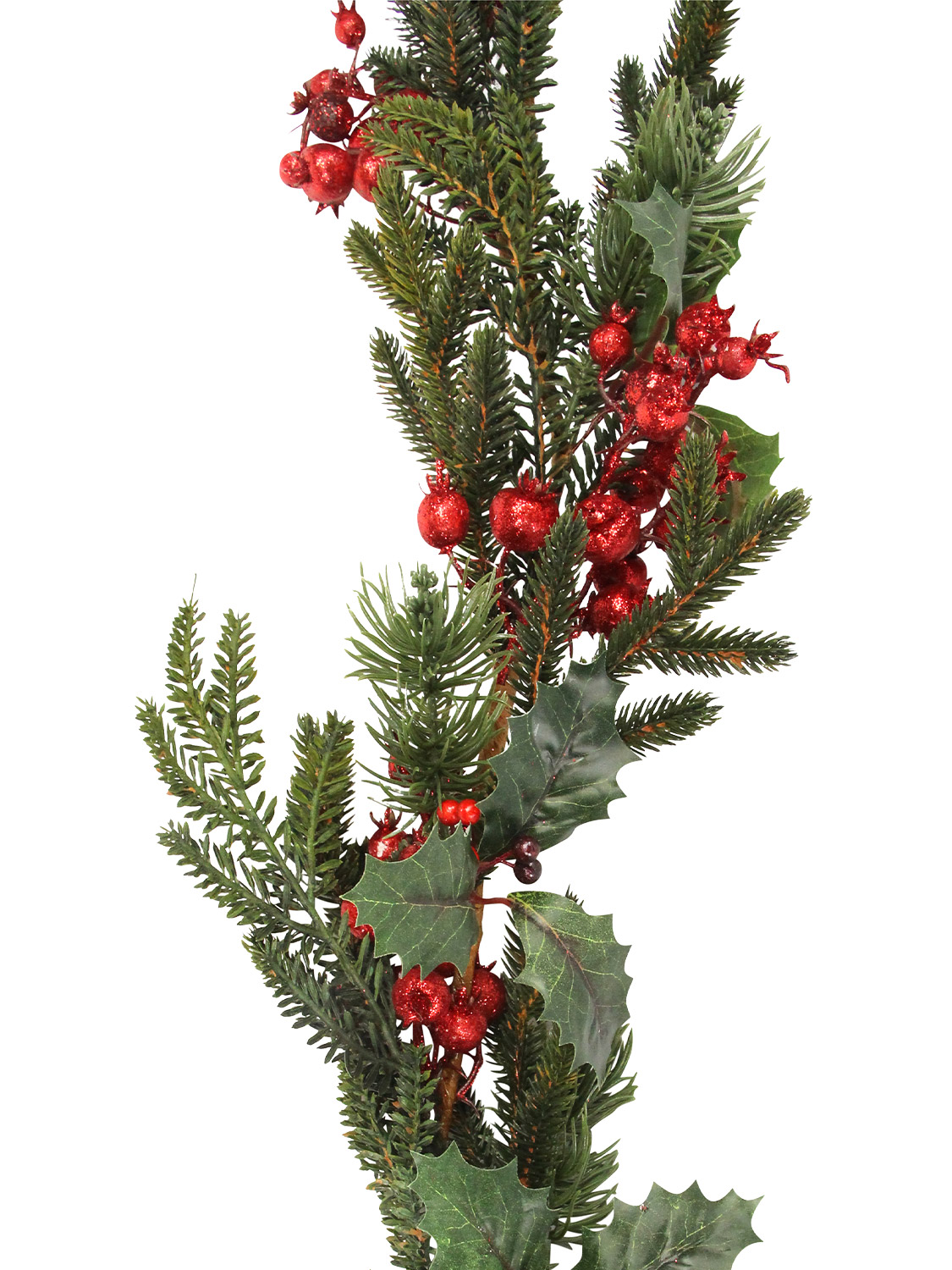 Gisela-Graham-Deluxe-Decorated-Christmas-Garland-Decoration-Fir-Berry-Pinecone thumbnail 13