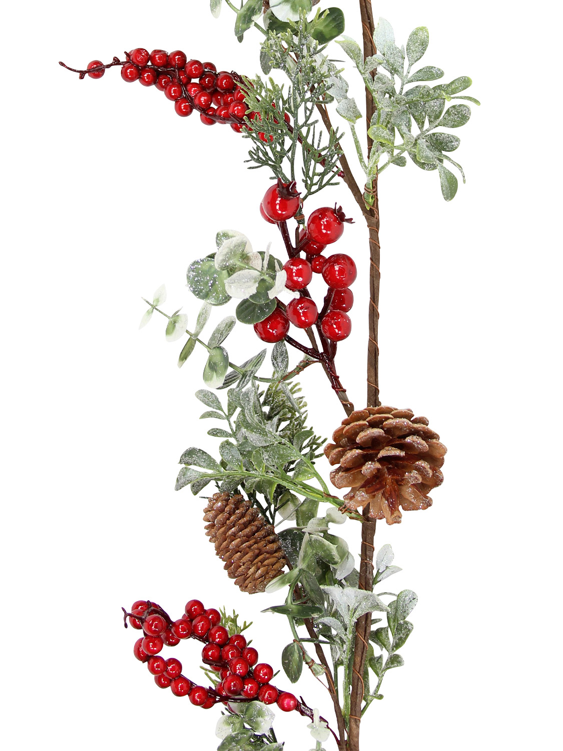 Gisela-Graham-Deluxe-Decorated-Christmas-Garland-Decoration-Fir-Berry-Pinecone thumbnail 8