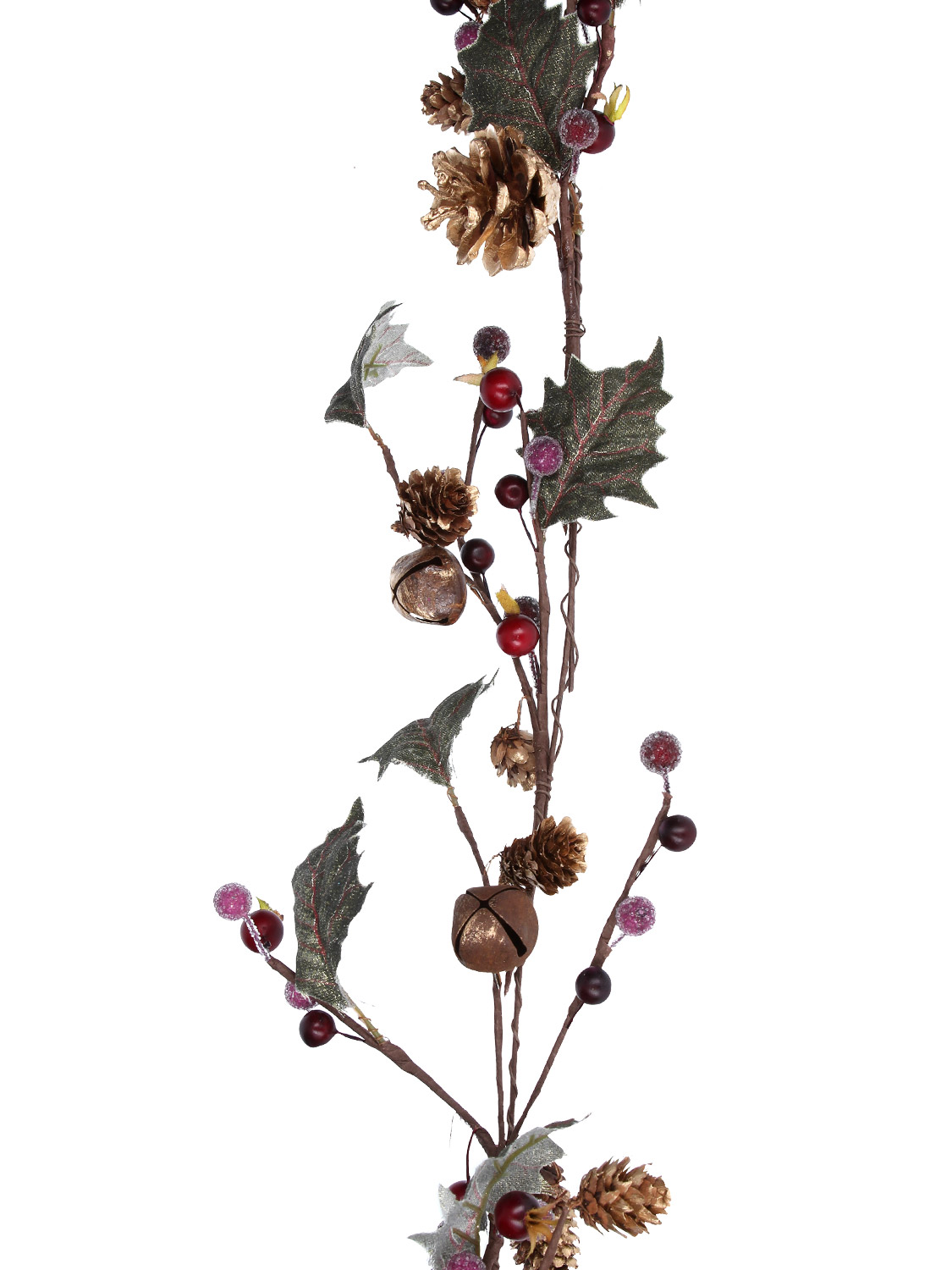 Gisela-Graham-Deluxe-Decorated-Christmas-Garland-Decoration-Fir-Berry-Pinecone thumbnail 21