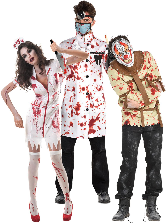 Adult Womens Zombie Surgeon Lady Costume Fancy Dress Halloween