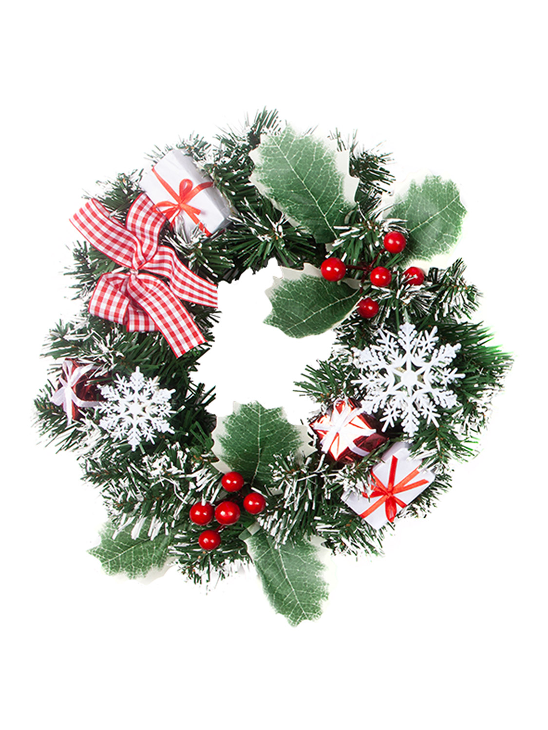 Christmas-Nordic-Wreath-Garland-Swag-Xmas-Scandi-Festive-Door-Mantle-Decoration thumbnail 10