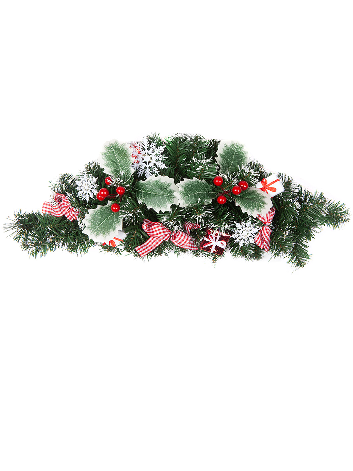 Christmas-Nordic-Wreath-Garland-Swag-Xmas-Scandi-Festive-Door-Mantle-Decoration thumbnail 14