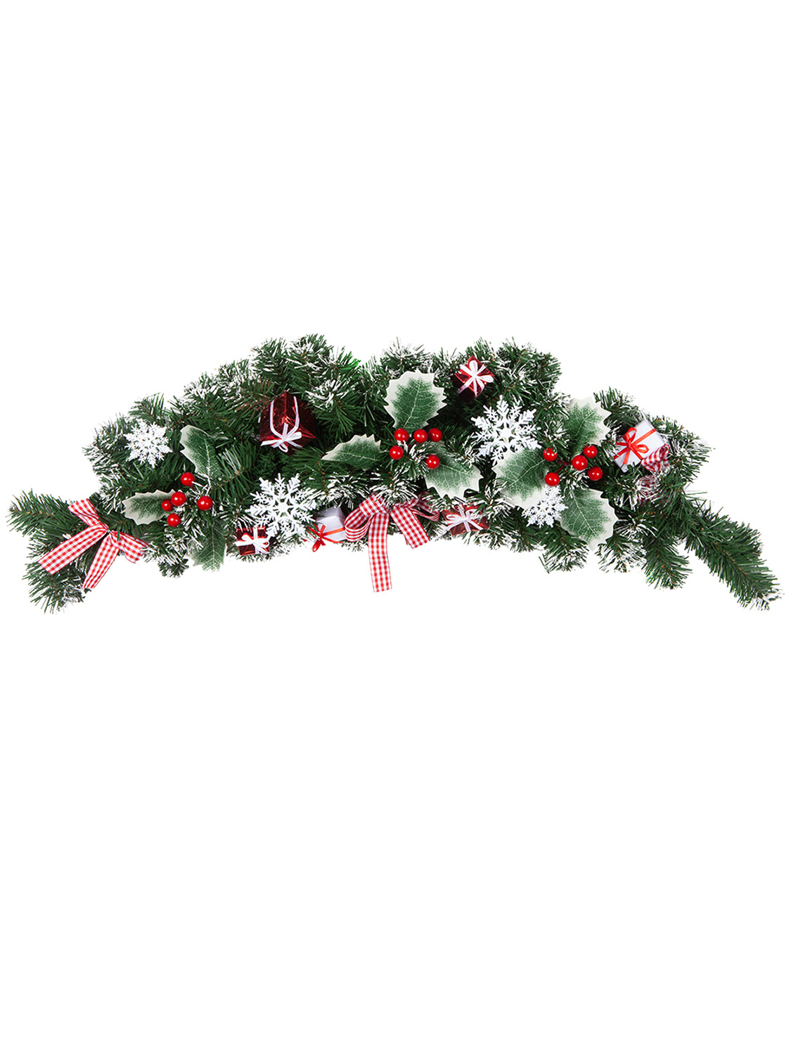 Christmas-Nordic-Wreath-Garland-Swag-Xmas-Scandi-Festive-Door-Mantle-Decoration thumbnail 16