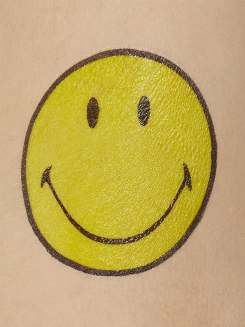 Pack of 9 Smiley Tattoo Transfers