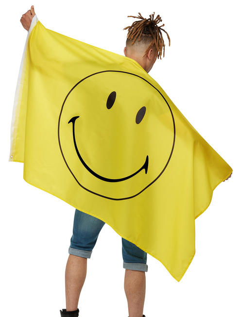 Large Yellow Smiley Flag