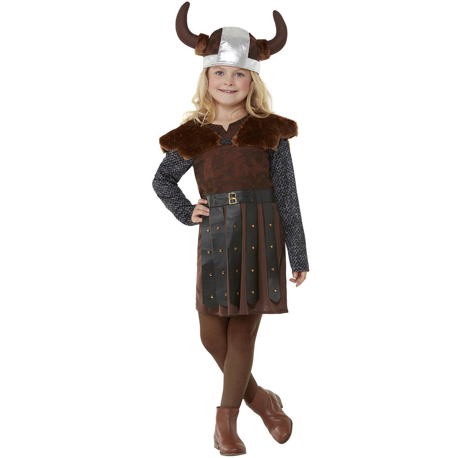 Boys Kids Viking Costume Warrior Saxon Fancy Dress Up Outfit New Age 3-12
