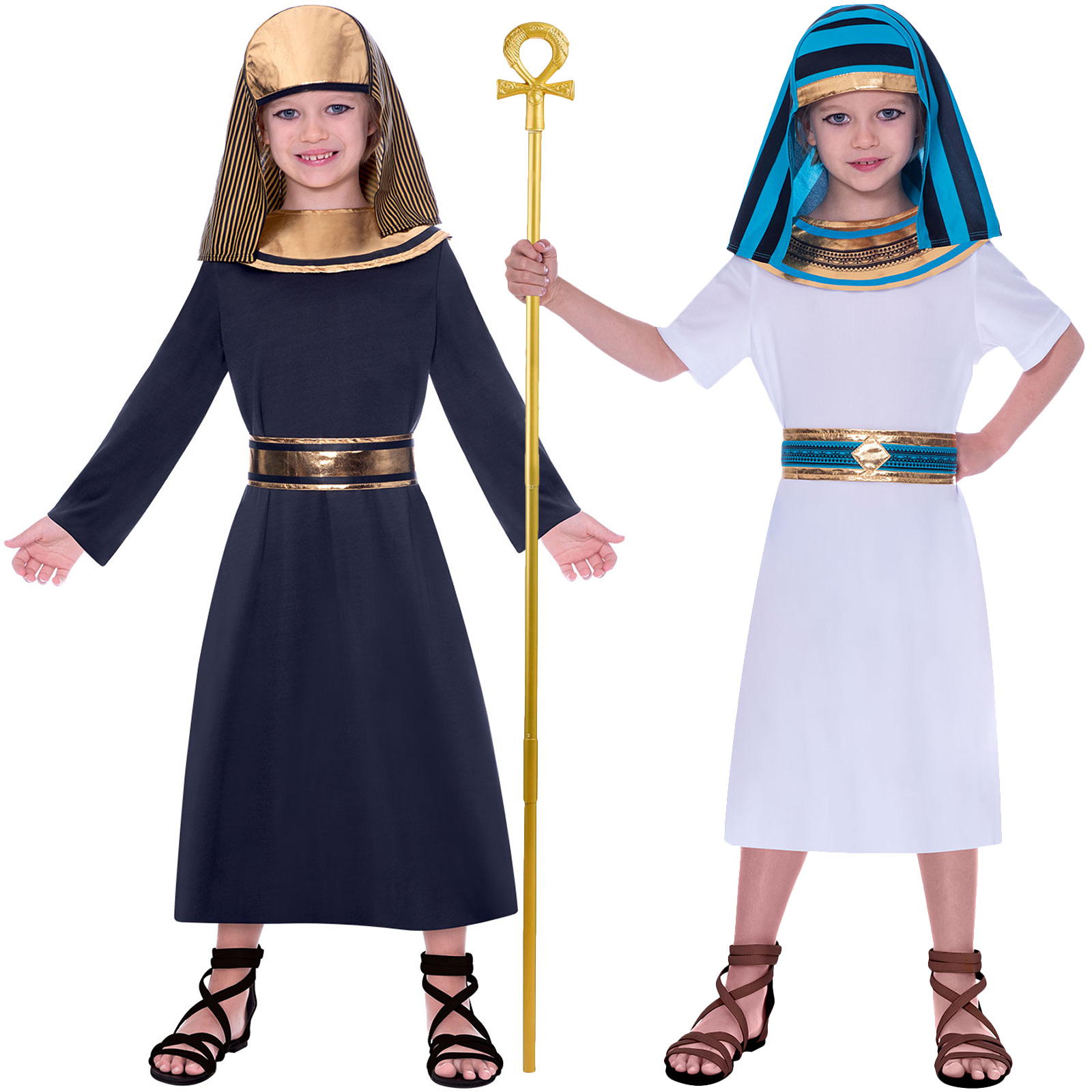 Children Girls Egyptian Pharaoh Fancy Dress Historical Egypt Book Week Costume