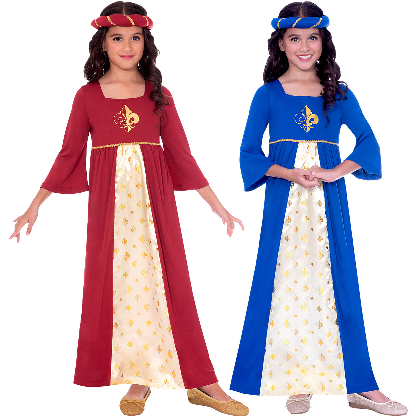 Kids Medieval Princess Red Juliet Girls Book Week Fancy Dress Childs Costume