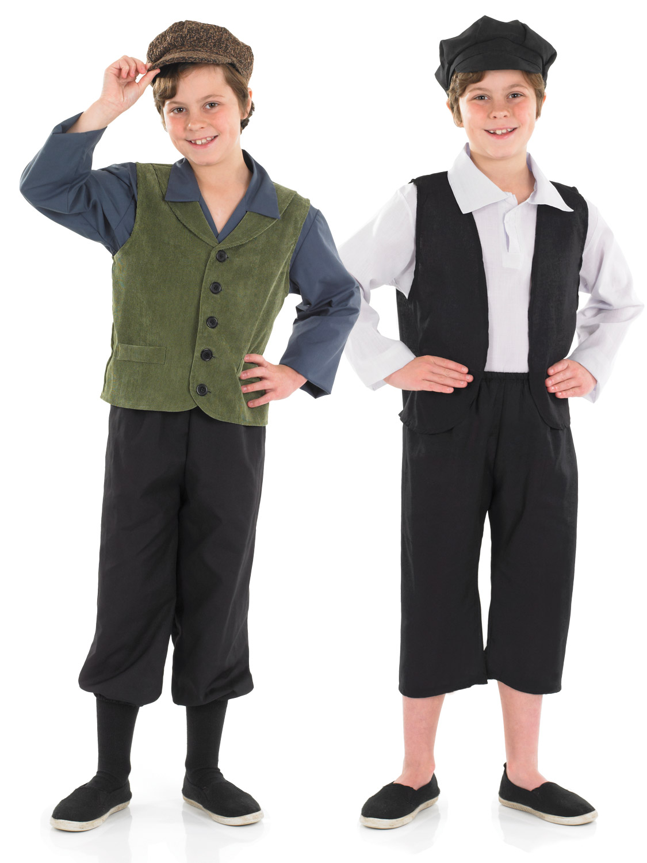 Boys Victorian School Boy Costume  All Children  Fancy -2693