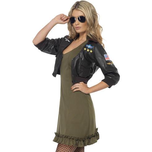 Ladies Sexy Top Gun Costume