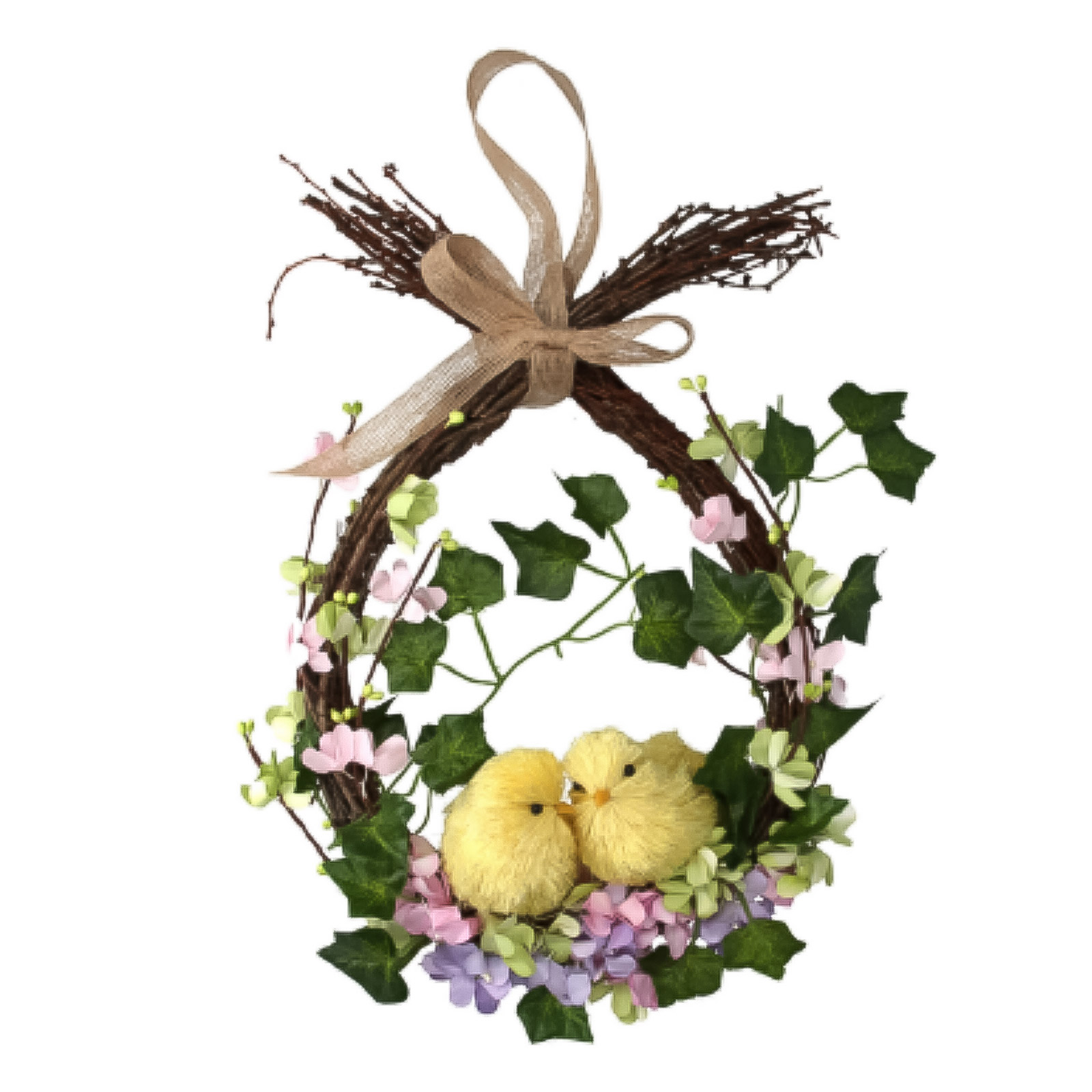 Gisela-Graham-Primavera-Corona-Decoracion-de-Mesa-de-huevos-de-Pascua-Flores-Casa-Puerta-Floral miniatura 8