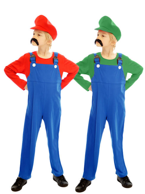 Boy's Super Mario Luigi Costume