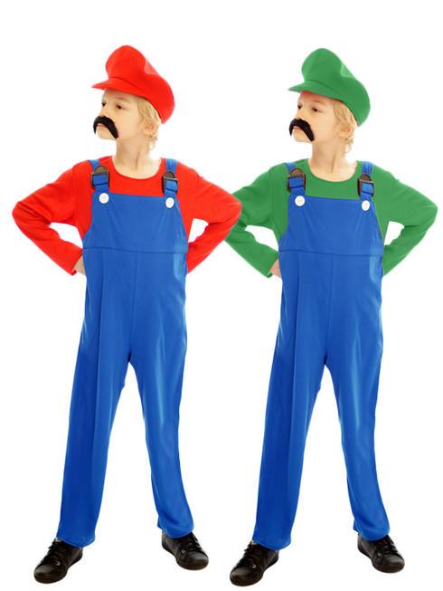 Boy's Super Mario Luigi Costume
